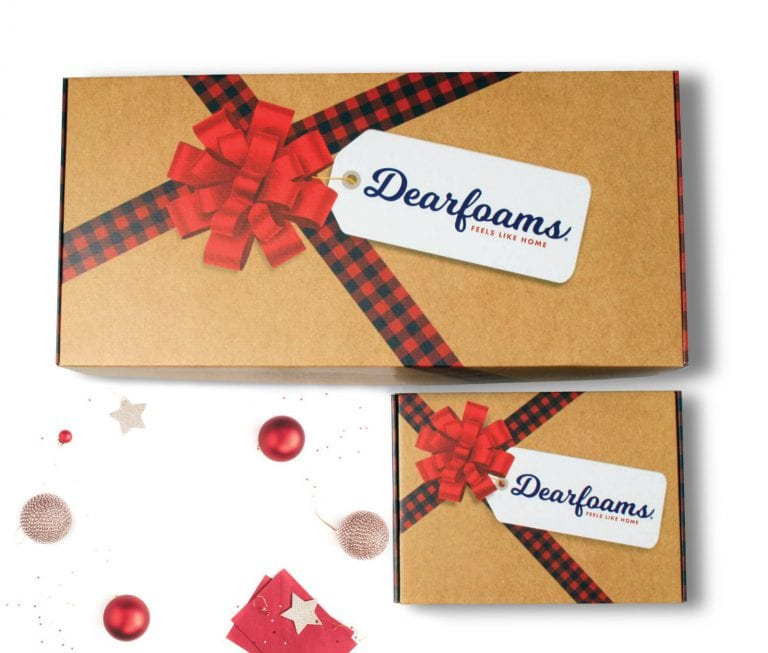 branded gift boxes for Dearfoams