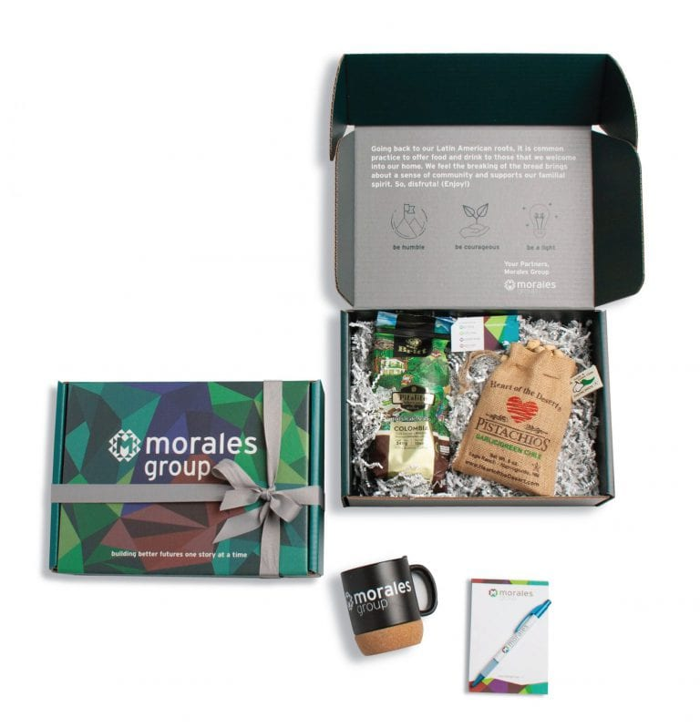 branded boxes for the Morales Group