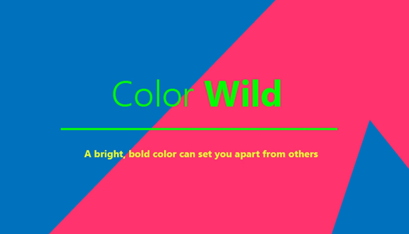 illustration of words color wild