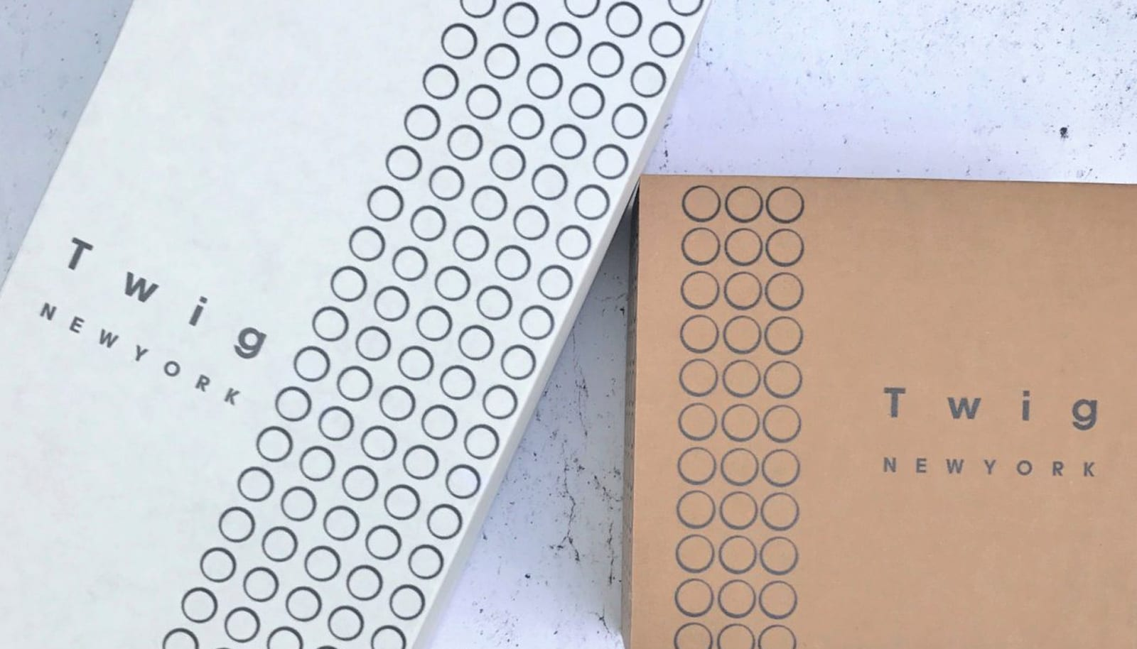 close up shot of Twig New York packaging