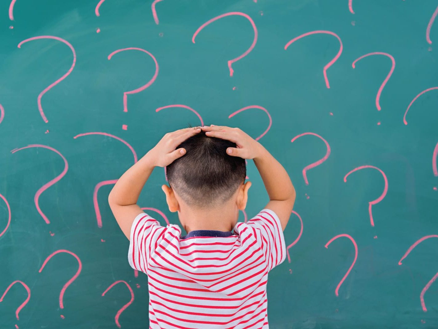 Boy with question