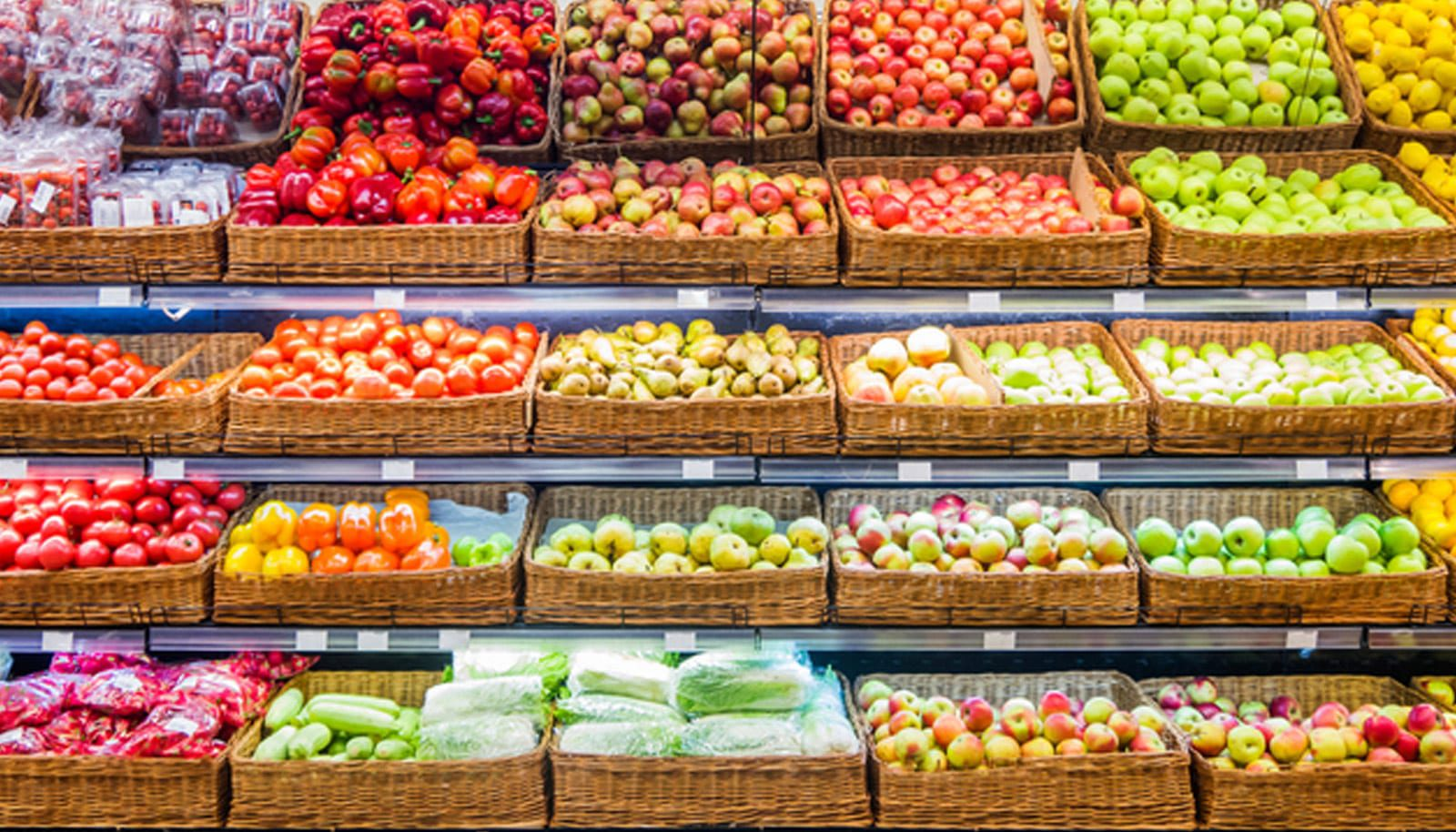 produce aisle at a grocery store